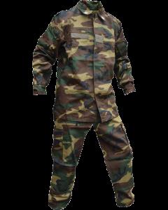 Italian Military 2 Piece BDU Set, Woodland
