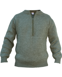 Swiss Military Half Zip Virgin Wool Sweater