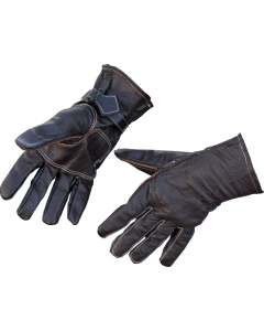 Swedish Military Leather Gloves, with White Stitching