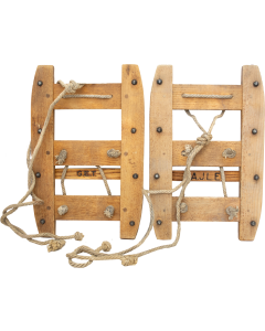 Vintage Swiss Military Mountain Troop Snowshoes