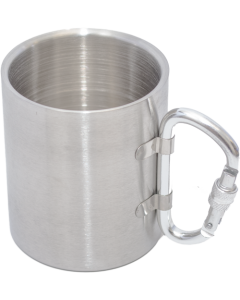Stainless Steel Camping Mug with Carabiner