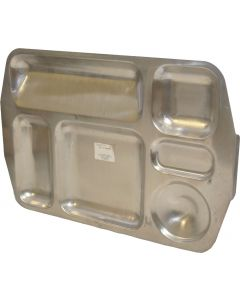Czech Military 6 Compartment Stainless Steel Mess Tray