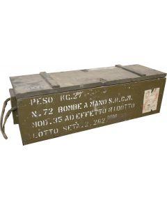 Italian Military Grenade Crate