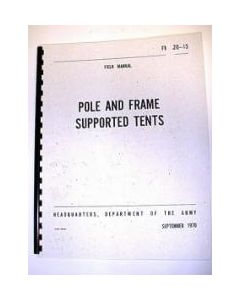 Pole and Frame Supported Tent Manual