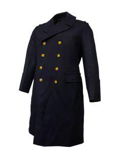 Polish Navy Long Wool Overcoat