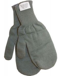 U.S. G.I. Aircrew Wool Mitten Inserts, 2 Pair Pack
