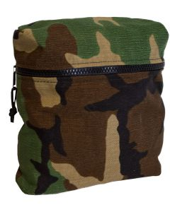 U.S. G.I. Zip Top Woodland Camo Satchel