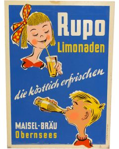 Vintage German Lemonade Sign
