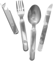 Hungarian Military 4 Piece Stainless Steel Utensil Set