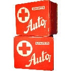 Vintage Czech First Aid Kit Box, 2 Pack