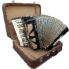 Vintage Slovakian Accordion