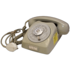 Swedish Military Vintage Rotary Bunker Phone