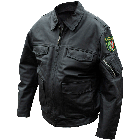 German State Police Leather Coat