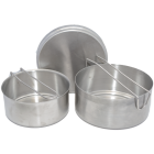 Czech Military Style Mess Kit, Stainless Steel
