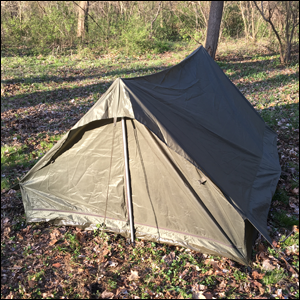 French Military Troop Tent Field Test