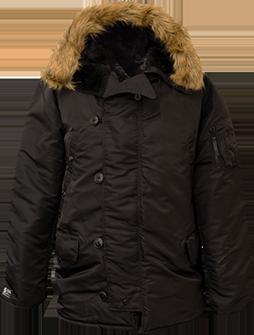 N-3B Extreme Cold Weather Parka-Black-Large