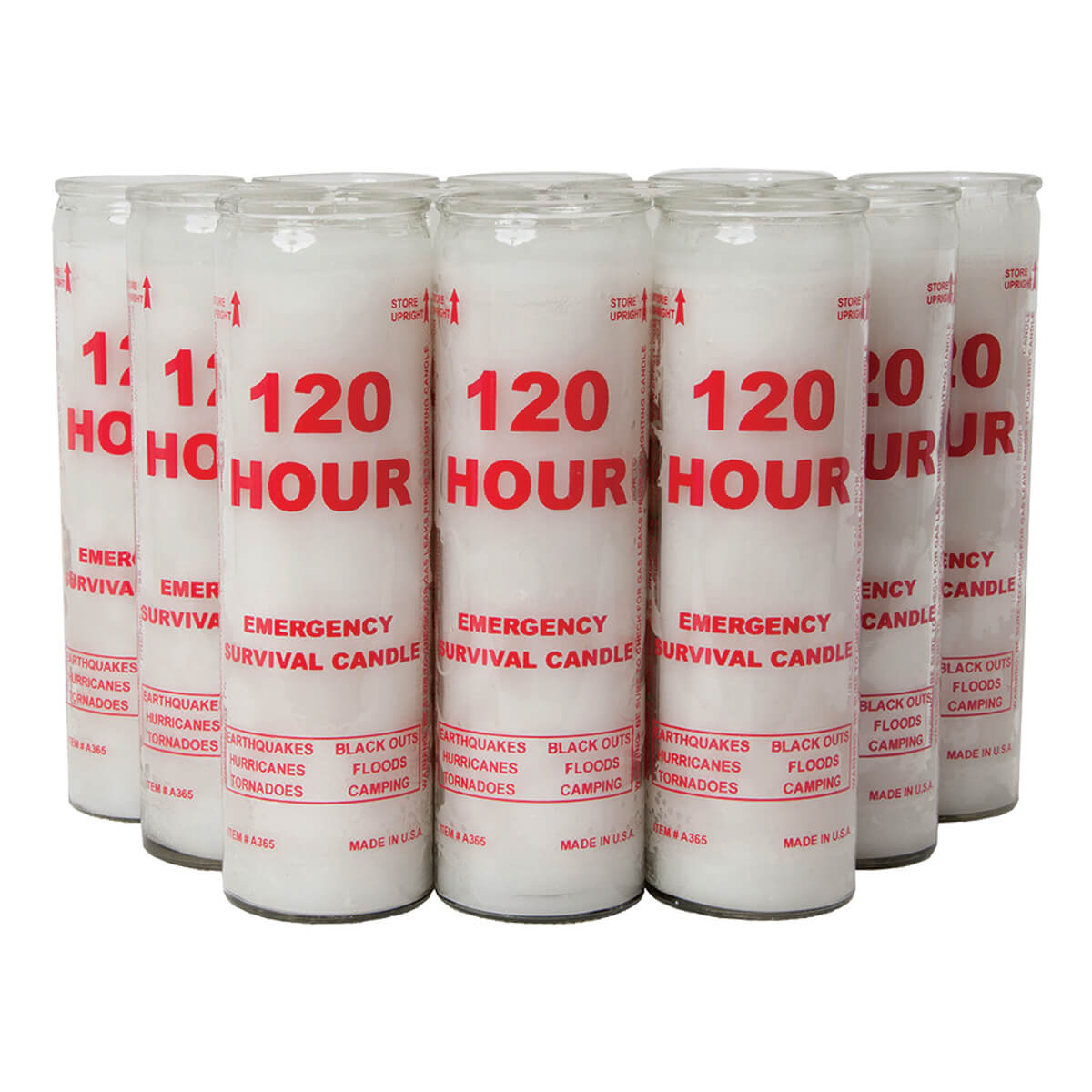 Emergency Candle, 120 hr, 2 pack