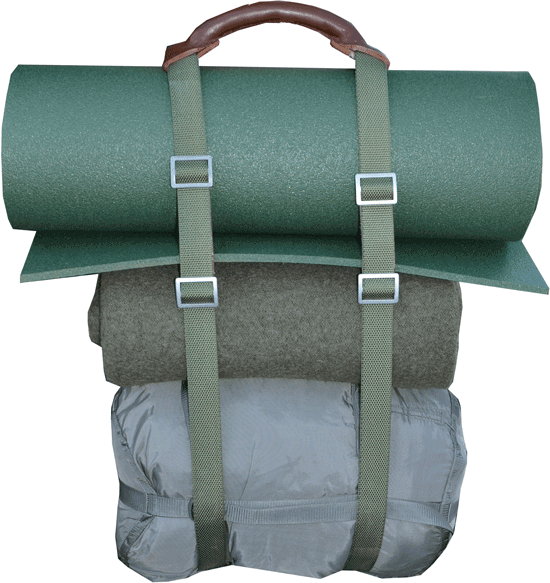 Polish carry handle for tent and backpack camping